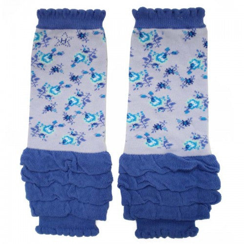 Ruffled Wildflower Baby Girl Leg Warmers