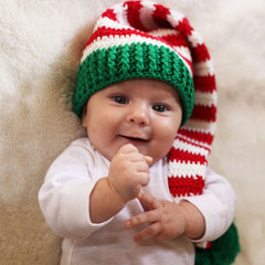 Christmas Baby Elf Crochet Stocking Hat icon