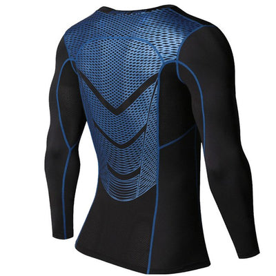 Men Compression Rashguard Long Sleeves Base Layer Skin Tight T Shirt
