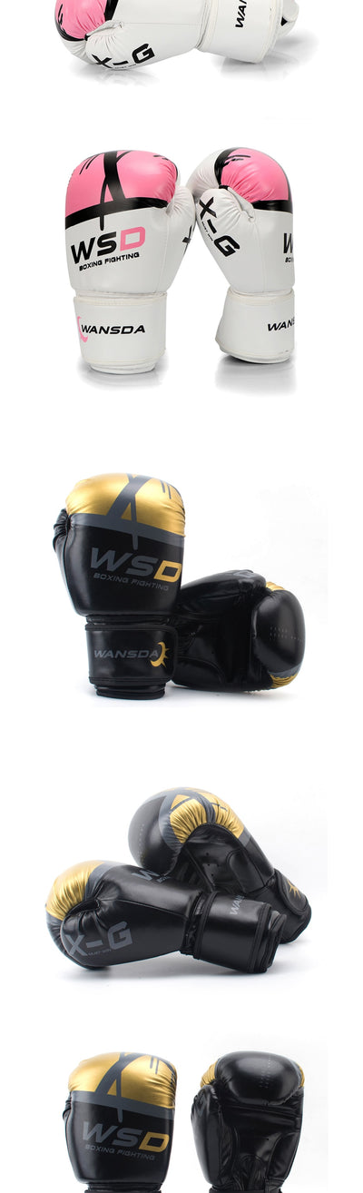 High-Quality Adult Unisex Leather Boxing Gloves