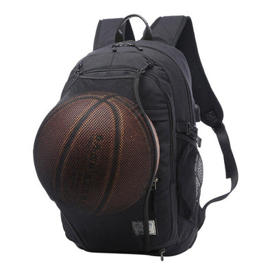 Sport Backpack With Football Basketball Net
