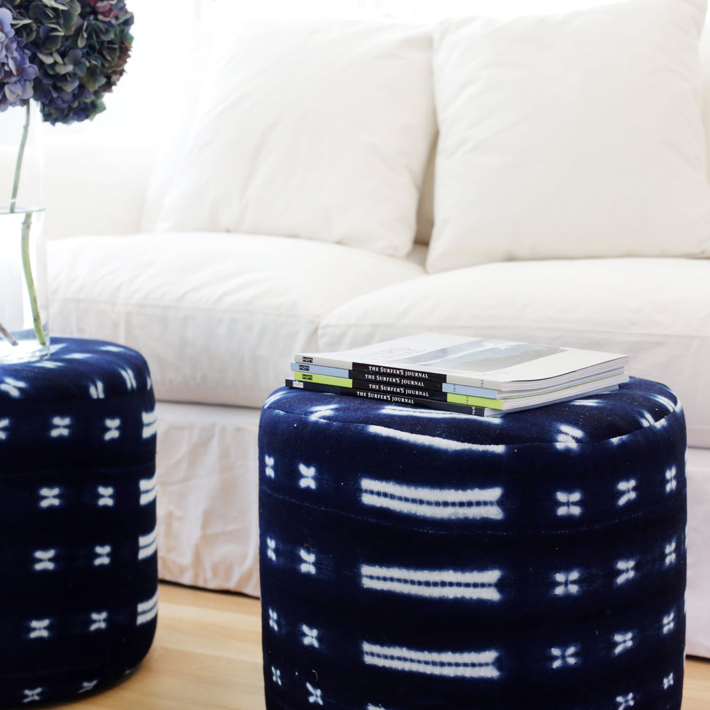 Introducing Mudcloth Poufs!