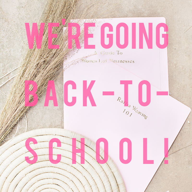 We're Going Back-To-School!