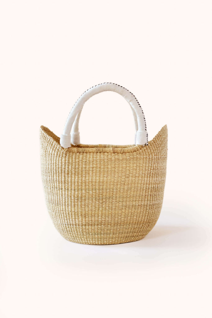 Natural Bolga Tote Cream