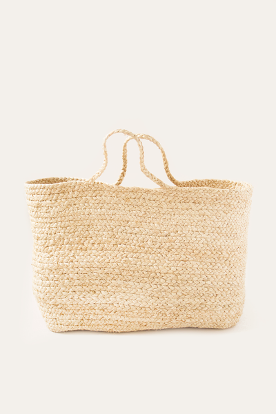 Raffia Braided Basket Bag