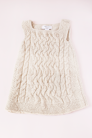 Cable Dress - Cream