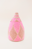Salmon Diamond Lidded Basket