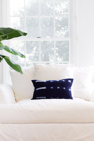 Mudcloth Indigo Pillow - Small