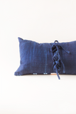 Ikat & Indigo Striped Pillow