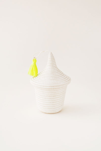 Mini Peace Basket - White