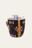 Ingwe Beaded Pattern Bucket Bag