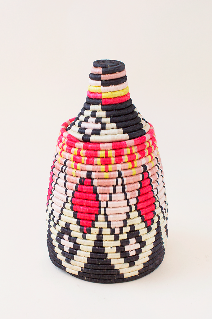 Diamond Lidded Basket