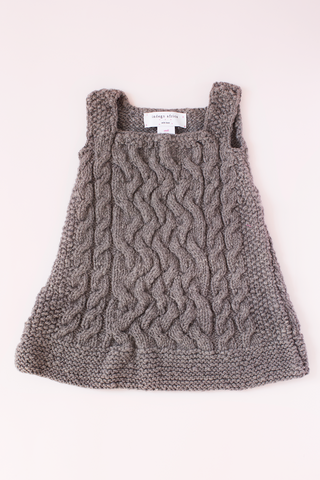 Cable Dress - Grey