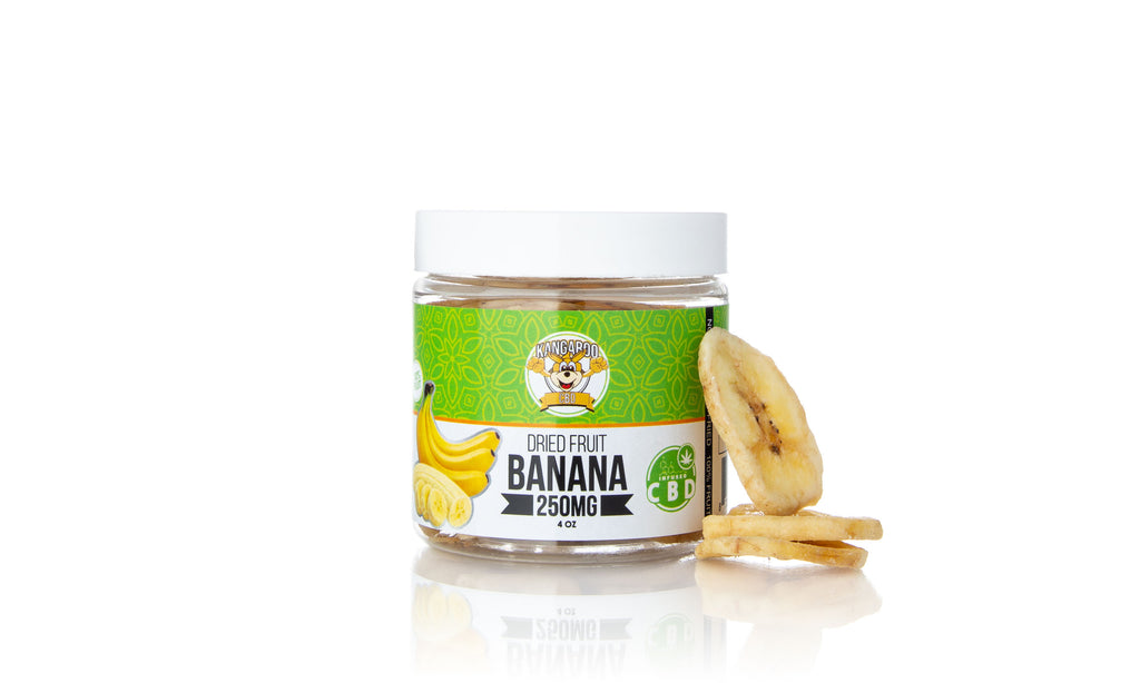 Kangaroo CBD Infused Dried Banana Fruit