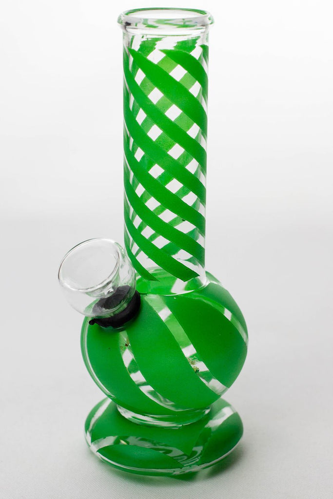 "6"" hollow base glass water bong"