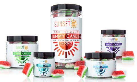 Sunset CBD Infused Watermelon Gummy Slices