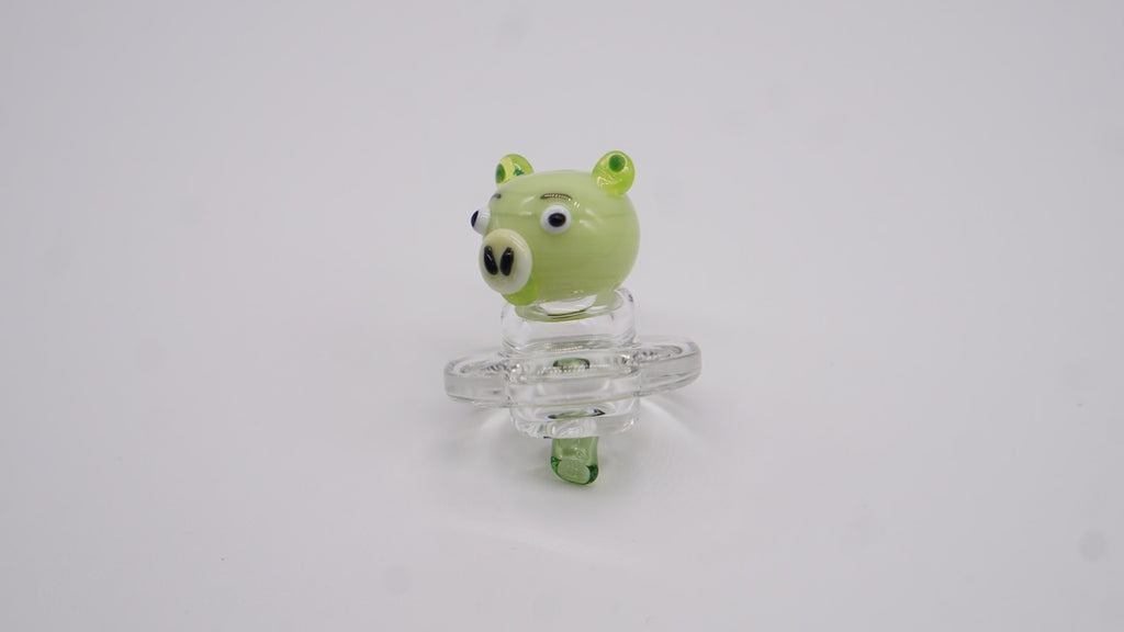 Empire Glassworks Carb Cap - Green Pig