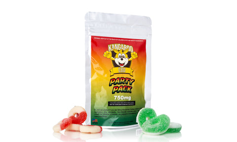 Kangaroo CBD Mix Gummies Pouch 750MG