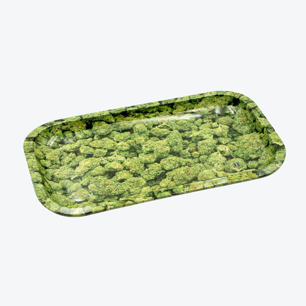 """Buds"" Metal Rolling Tray"