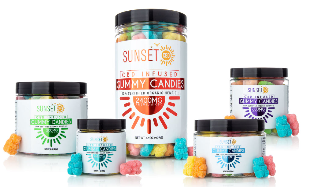 Sunset CBD Infused Sour Gummy Bears