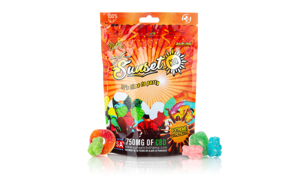 Sunset CBD Infused Mix Gummy Pack 750MG