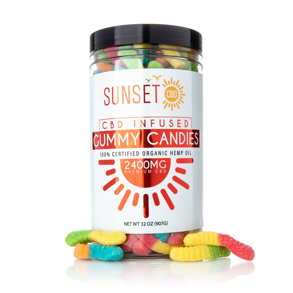 Sunset CBD Infused Sour Gummy Worms