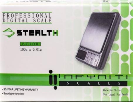 Infyiniti ST100 Stealth II Scale 100G X 0.01G (1 Count)
