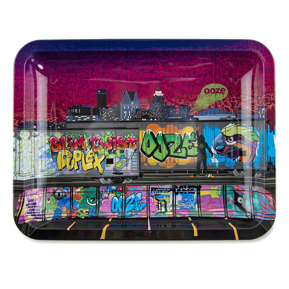 "OOZE - ""Tag"" - Metal Rolling Tray - Small, Medium or Large (1 Count)"