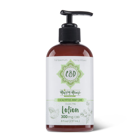 Goat's Milk CBD Lotion - Eucalyptus Mint Lime
