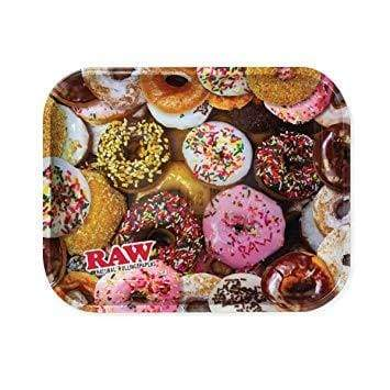 Raw Rolling Tray Donut Theme Metal Large