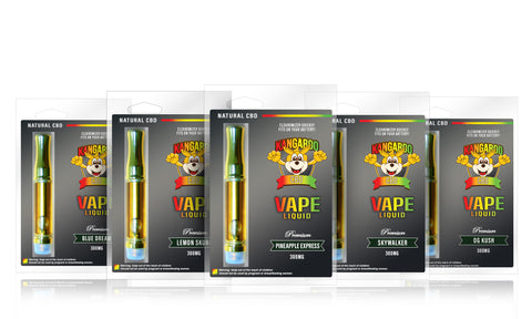 Kangaroo CBD Vape Cartridges 300MG
