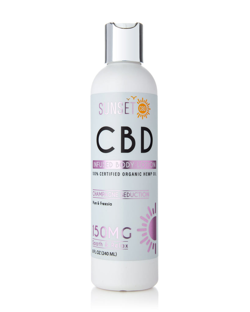 Sunset CBD Infused Body Lotions 150MG