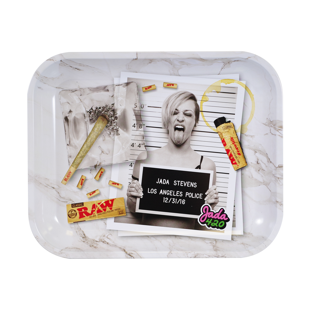 Raw Large Rolling Metal Tray Jada Stevens Design - (1 Count)