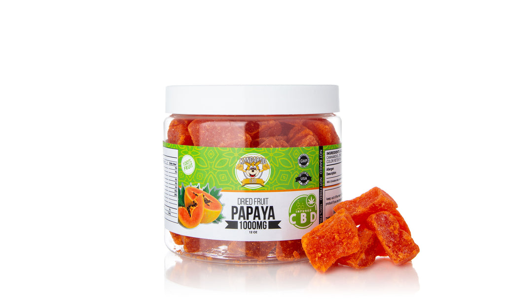 Kangaroo CBD Infused Dried Papaya Fruit