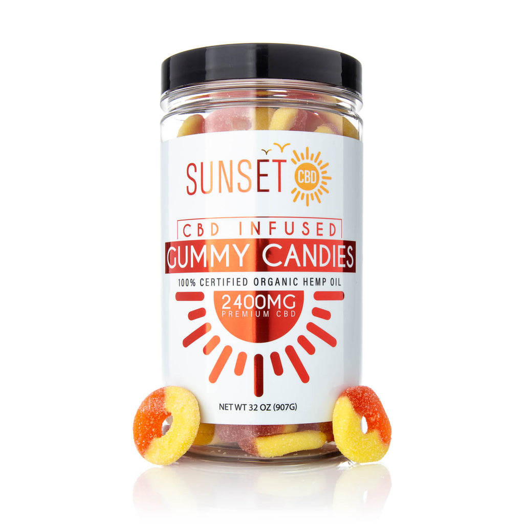 Sunset CBD Infused Peach Gummy Rings