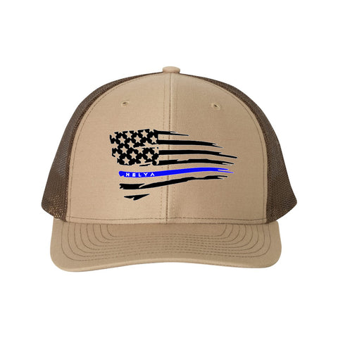 Police Snap Back Flag Hat