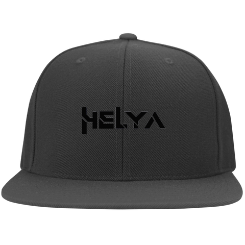 HELYA to the Flat Bill Twill Flexfit Cap