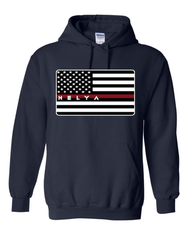 Fire Fighter Flag Hoodie