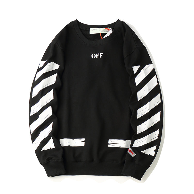 O-WHITE LONG SLEEVE SEEING THINGS (BLACK)