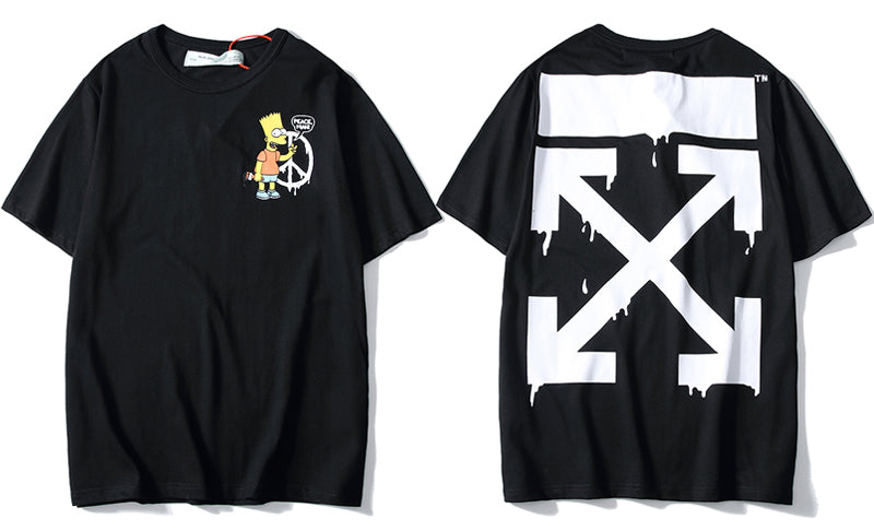O-WHITE DRIPPY SIMPSONS (BLACK)