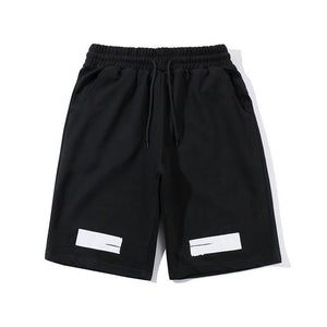 O-WHITE LOGO SHORTS (BLACK)