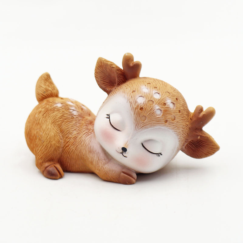 Sleeping Deer Miniature Collection (Ceramic)