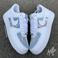 Load image into Gallery viewer, NIKE AF1 - BLUE ACID WASH PAINT SPLAT DENIM - MattB Customs