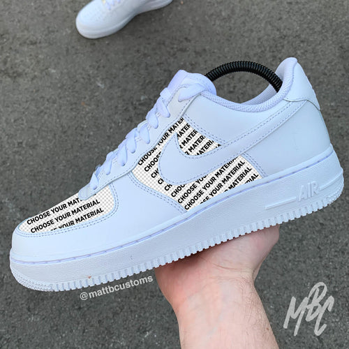 NIKE AF1 - CUT & SEW - MattB Customs