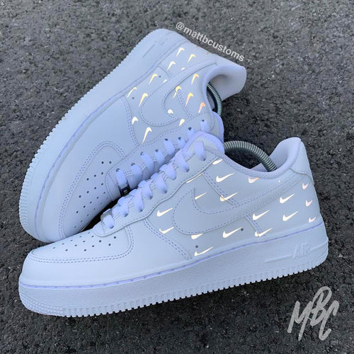 NIKE AF1 - REFLECTIVE MINI SWOOSH - MattB Customs