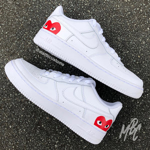 NIKE AF1 - CDG HEART - MattB Customs