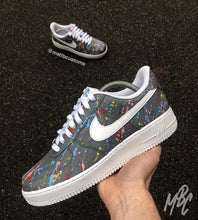 Load image into Gallery viewer, NIKE AF1 - GREY PAINT SPLAT - MattB Customs