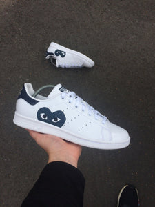 ADIDAS STAN SMITH WHITE - CDG - MattB Customs