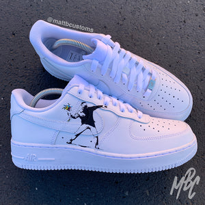 NIKE AF1 - BANKSY FLOWER THROWER - MattB Customs