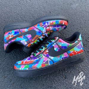 NIKE AF1 BLACK - PAINT SPLAT FREESTYLE - MattB Customs